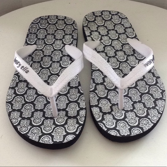6eceb4063 ivory ella Shoes - Ivory Ella Flip Flops Black White Women s Size ...